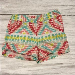 Girls chino shorts 4 gymboree zip pockets pastel